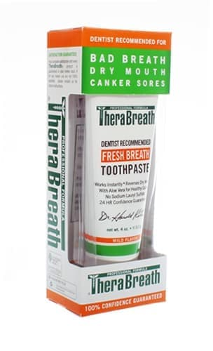 canker sore toothpaste from therabreath
